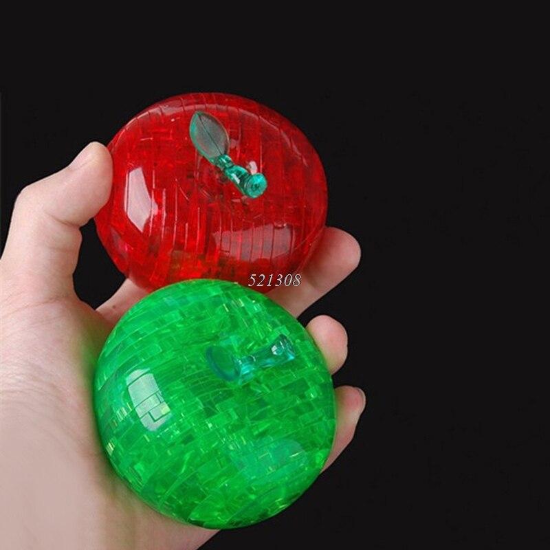 Forma de manzana Rompecabezas Para Niños No Luminancia Adultos Puzzle Niños DIY
