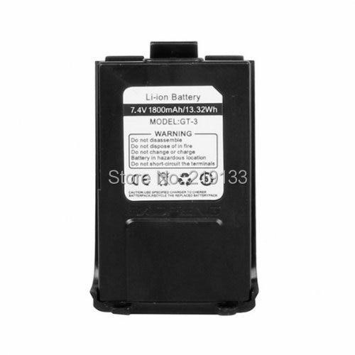 Original 7.4V 1800mAh BaoFeng Batteri Til VHF UHF Two Way Radio GT-3 Sort Gratis forsendelse