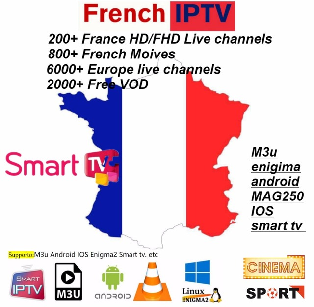 6/12 meses 6000 + Live M3U ENIGAM2 Andriod IPTV Italia alemán francés España TR Reino Unido Italia Holanda Belgica adulto hotxxx de Fútbol