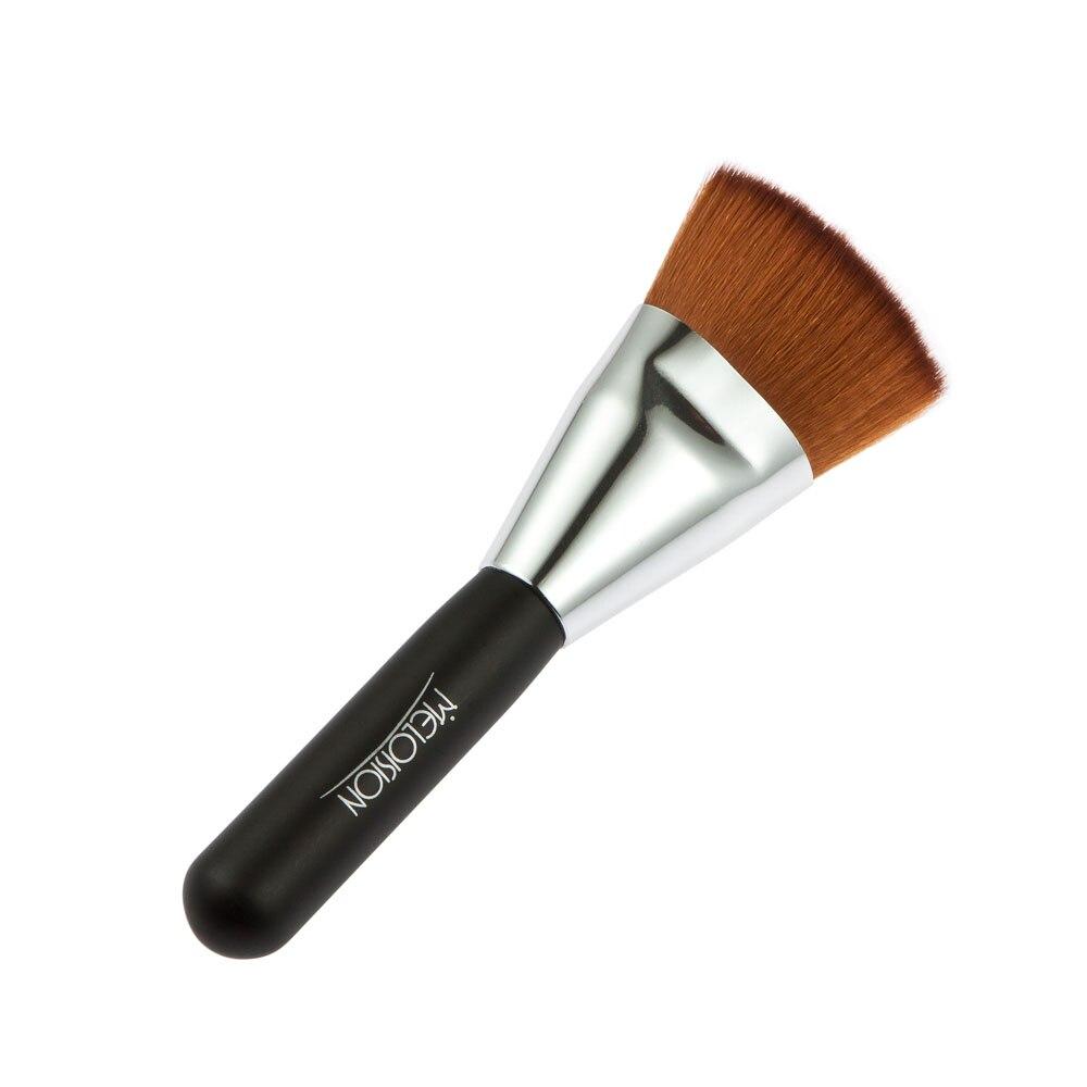 Nuevo profesional fundación pinceles de maquillaje contorno plano polvo suelto d