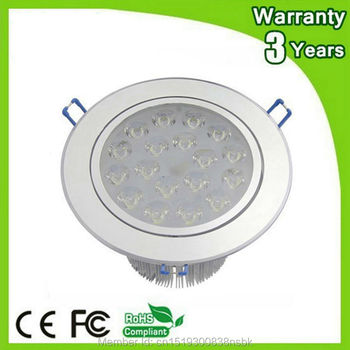 (10PCS/Lot) Epistar Chip 3 Years Warranty CE RoHS LED Downlight 18W LED Ceiling Light Down Lights COB Recessed Spotlight Bulb