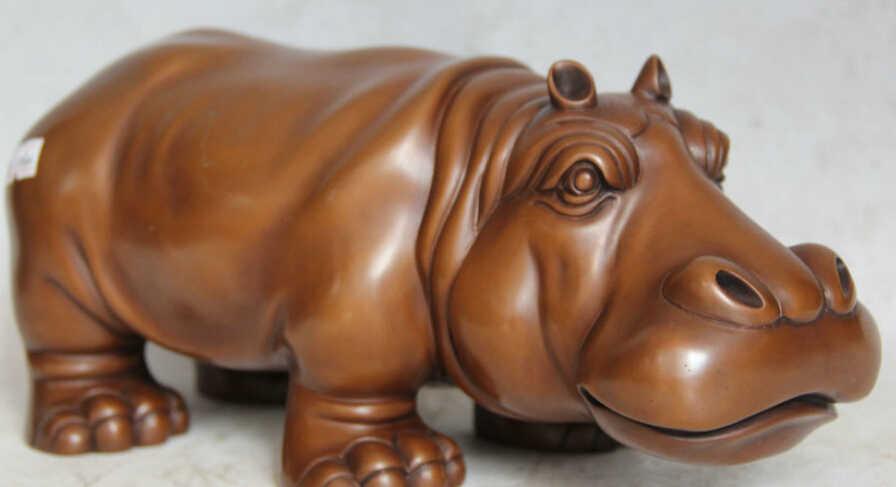 SCY JP S0524 12 Chinese Bronze Lila seepferdchen hippocampus hippocampi Statue Skulptur