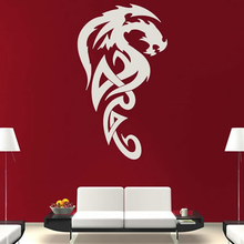 dctop vinyl removable tribal royal dragon wall stickers white living room sofa background home decor - Royal Home Decor