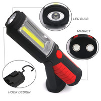3800 Lums Super Bright COB USB Charging 36 5 LED Flashlight Work Light Torch HOOK Mobile