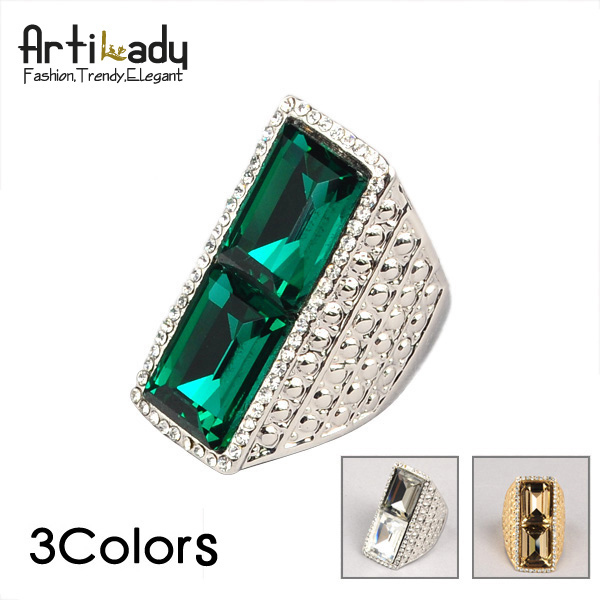 Artilady 2013 crystal ring  women jewelry fashion design gem christmas gift 3 colors