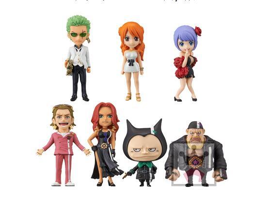 7pcs/set One piece nami Roronoa Zoro Anime Action Figure PVC New Collection figures toys Collection for Christmas gift
