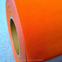 Cdf-07 Orange изделие высокого качества, самые модные теплообмена винил для одежды из флока сердце передачи фильм
