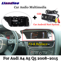 Liandlee Car Android System For Audi A4 A5 Q5 2008~2015 Stereo Radio Video TV Carplay Camera GPS Map Navi Navigation Multimedia