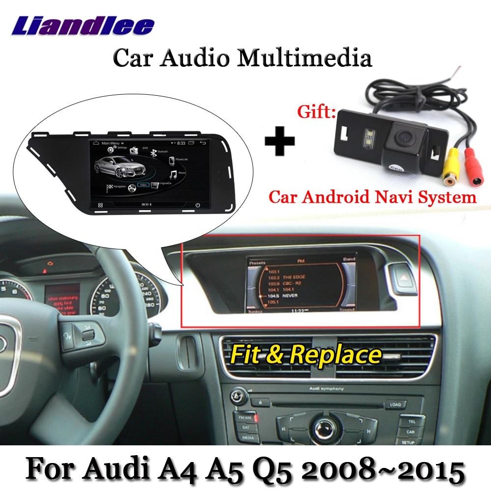 Liandlee Car Android System For Audi A4 A5 Q5 2008~2015 Stereo Radio Video TV Carplay Camera GPS Map Navi Navigation Multimedia