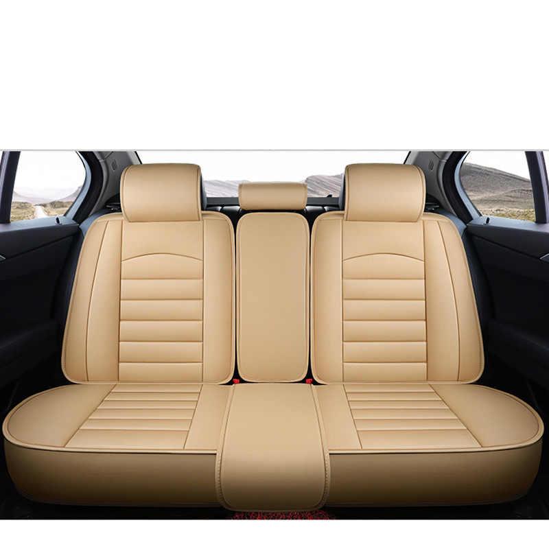 Leather Car Seat Cover Universal auto Interior Accessories for toyota hilux mark 2 premio tundra venza land 80 100 200 estima