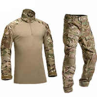 Tactical Costume Military Tactical Uniform Army Style Frog Suit Airsoft Camouflage Combat Clothing Long Sleeve Shirt + Pants