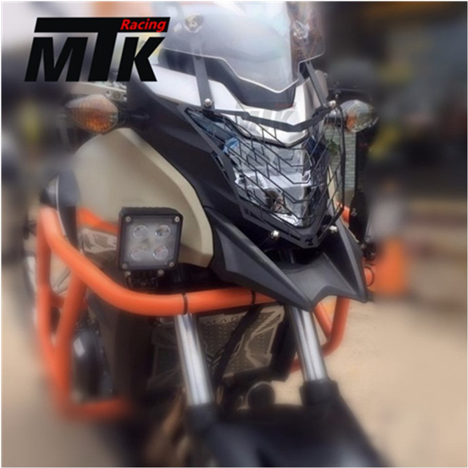 MTKRACING Motorcycle Accessories Headlight Grille Guard Cover For HONDA CB500X CB 500X 2016-2017 for honda cb 500f cb 500x cb 650f 2016 2017 2018 motorcycle cnc fuel gas tank cap cover motorbike accessories