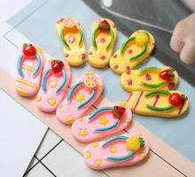 Fruit Slippers Theme Resin Accessories Mobile Phone Shell DIY Material Refrigerator Stickers Home Decoration