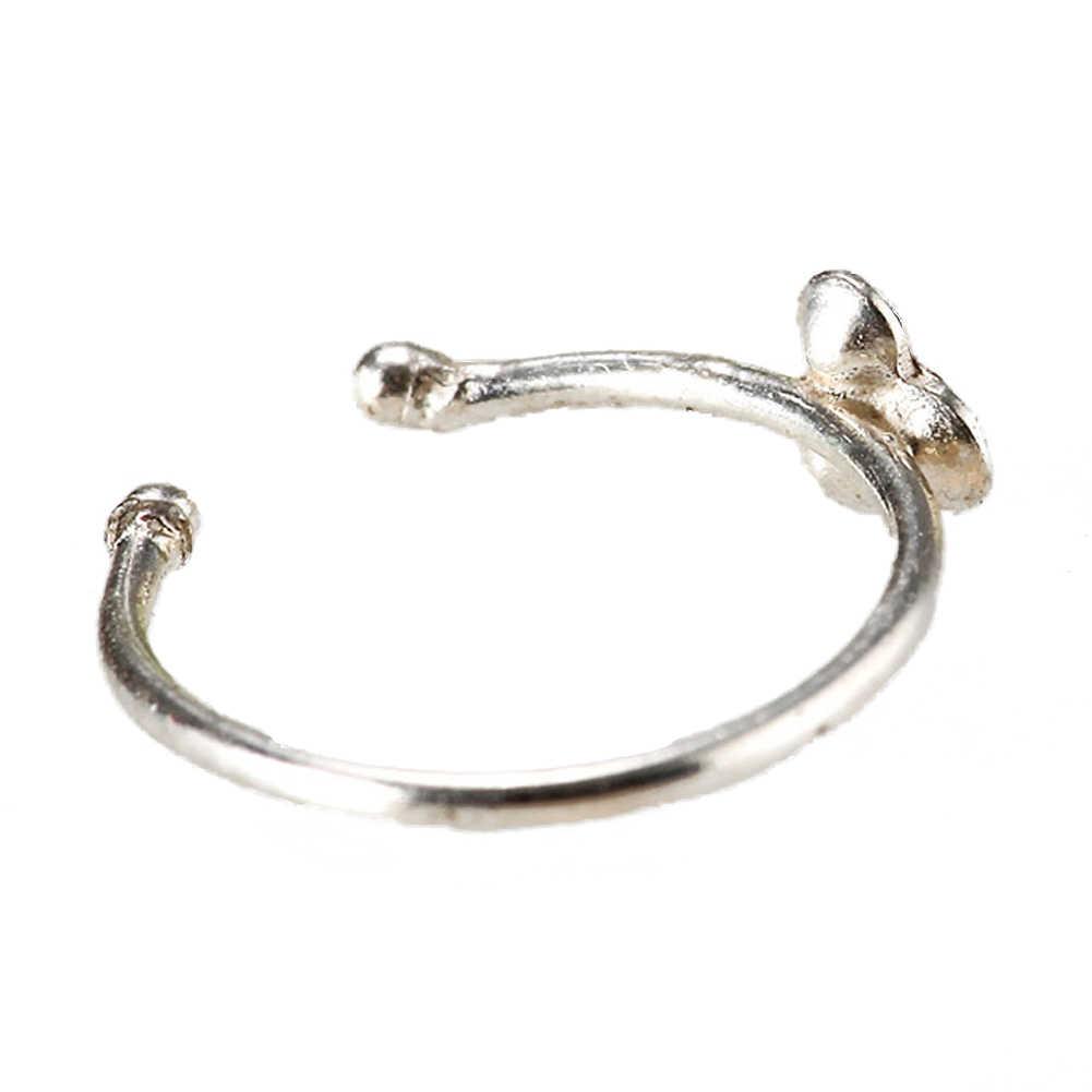 Vintage คุณภาพสูงจมูกแหวนหูสำหรับผู้หญิง Silver สีเครื่องประดับอุปกรณ์เสริม