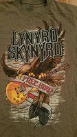 Lynyrd Skynyrd Free Bird T Shirt Eagle Guitar Brown Tee Shirt Men S Small Rock