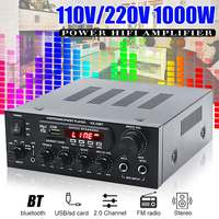 1000W Home Amplifiers Audio Hifi Bass Audio Power Amplifier Home Theater Amplifier for Subwoofer Speakers