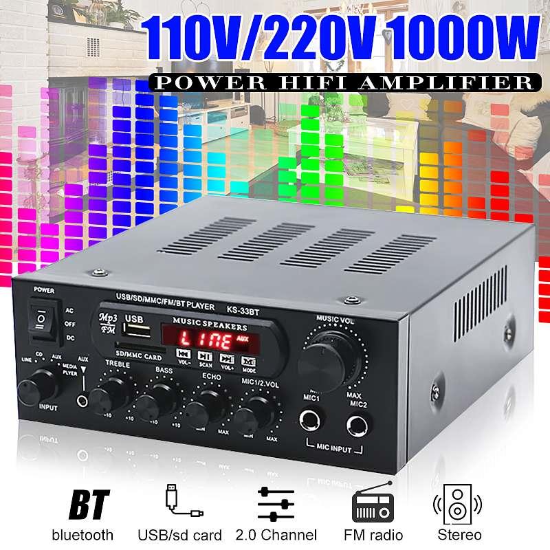 1000W amplificateurs à la maison Audio Hifi basse amplificateur de puissance Audio amplificateur de cinéma maison pour haut-parleurs de caisson de basse