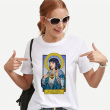 Aesthetic Pulp Fiction Harajuku Kawaii Tshirt Korean Style Ulzzang Tops O-neck Short Sleeve White Tshirt Tumblr Tees(China)
