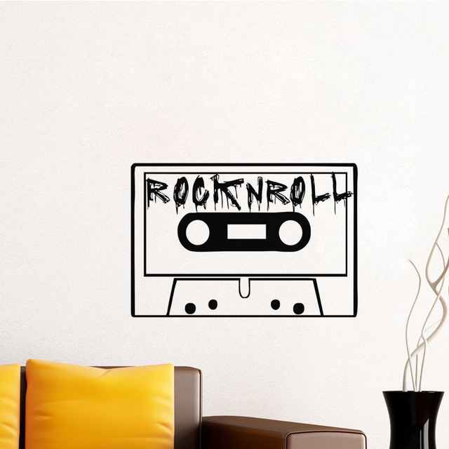 aliexpress : buy vintage rock and roll tape wall stickers