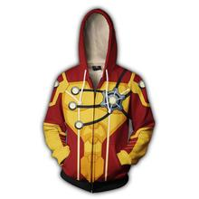 2018 Autumn Winter 3 Firestorm Hoodies Sweatshirts Fashion Cosplay Casual Zipper hooded Jacket clothing цены онлайн