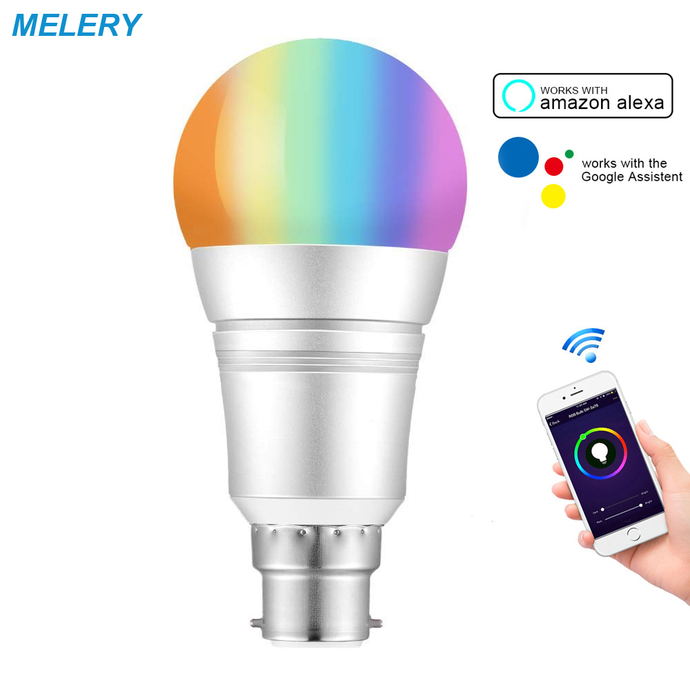Wifi Smart Bulb Dimmable LED Light B22 9W Bayonet 60W Equivalent  Remote Voice Control Work with Amazon Alexa,Google HomeWifi Smart Bulb Dimmable LED Light B22 9W Bayonet 60W Equivalent  Remote Voice Control Work with Amazon Alexa,Google Home
