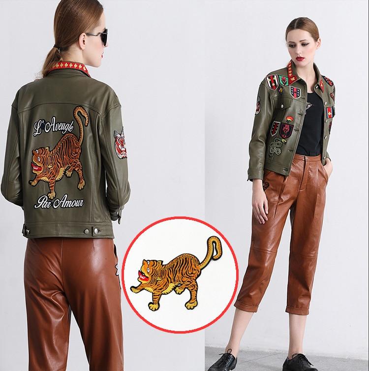 Finom hímzés nagy tapasz tigris javítás javítás ruházati - Művészet, kézművesség és varrás