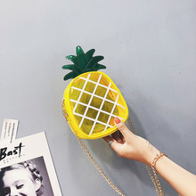 Korean-style transparent versatile chain pineapple bag fashion shoulder WOMENS handbags