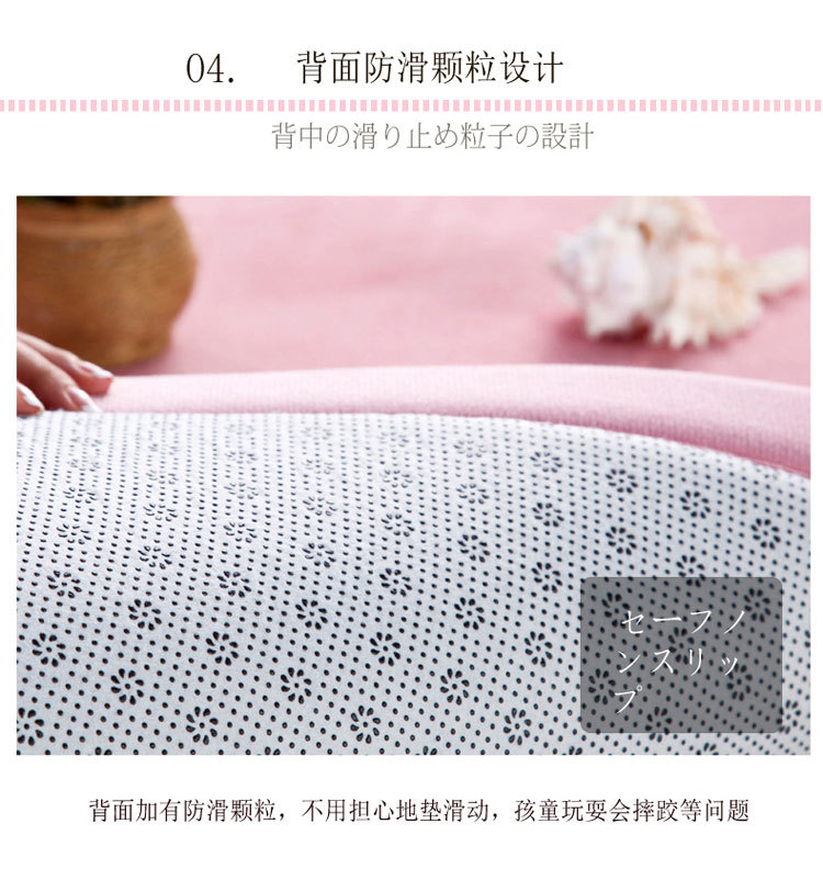 Baby Play Mat Coral Velvet Antiskid Design Crawling Mat  Baby Carpet Mat for Children Game Pad Super Soft Comfortable Playmat  (10)