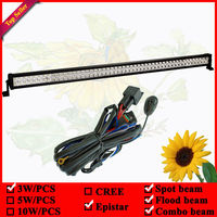 12V 300W 50 LED OFF ROAD BAR With a set of wiring harness including Relay & 40A fuse & switch & over 3m cable 52inch Led Bar