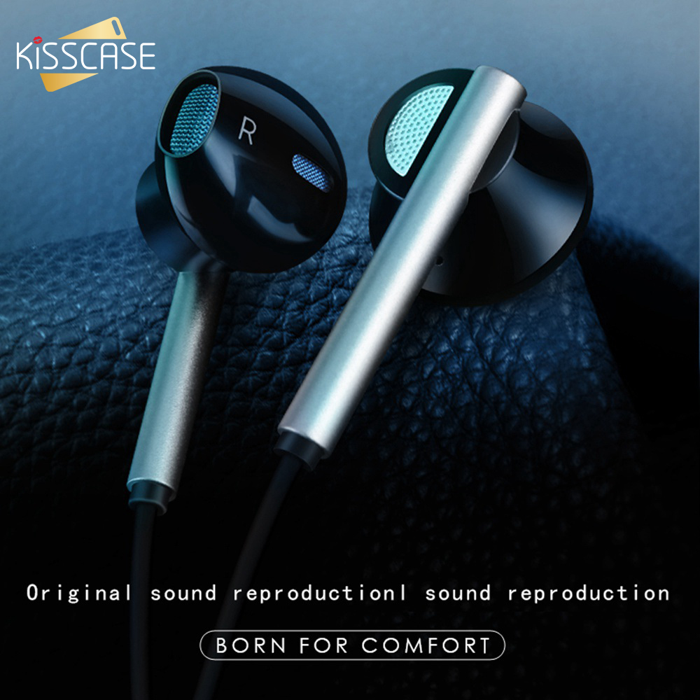 KISSCASE Semi In Ear Gaming Headset For Xiaomi For Redmi Earphone 6D Stereo Surround Gamer Headset Porous Design Earbud Earphone