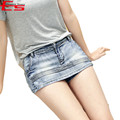 Summer 2017 Women Short Skirt Jeans Blue Vintage Denim Skirt Shorts Casual Jeans Shorts High Waisted Sexy Women Short feminino