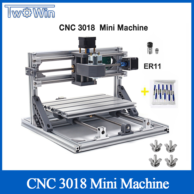 CNC Router DIY 3018 ER11 GRBL Controle CNC DIY Máquina 3 Eixo PCB Fresadora Router Madeira Máquina de Gravura do Laser