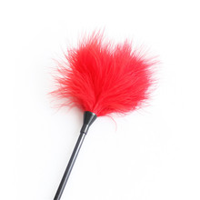 Burlesque Style Black Feather Tickler