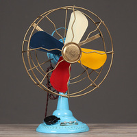 A PCS Vintage iron electric fan model Home decor bar restaurant window shooting props antique ornaments AP5181636