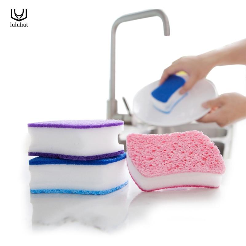 luluhut Home use cleaning brush magic melamine sponge bathroom kitchen window smoke lampblack machine cleaner sponge dish