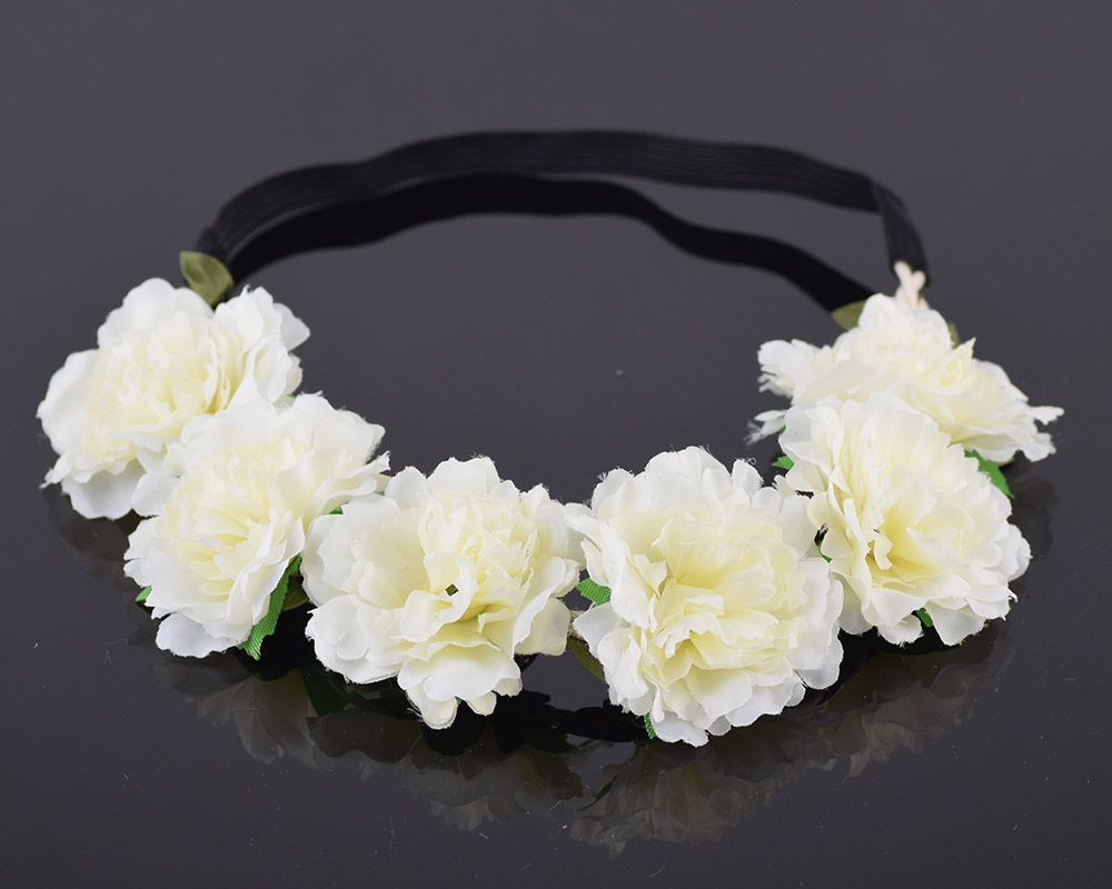 Cxadditions Girl Women Handmade Gradient Carnation Flower Wreath
