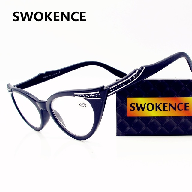 SWOKENC Brand High Quality Elegant Cat eye Reading Glasses Women ...