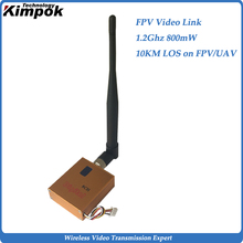 Mini FPV Video Transmitter 1.2Ghz 800mW Wi-fi Transmitter and Receiver 10km Drones Lengthy Vary Video Sender