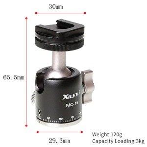 Image 2 - MC 19Aluminum  Mini Ball Head w 1/4 Screw and Cold Shoe Adapter for Phone Tripod LED Video Light Monitor Swivel on DSLR Camera