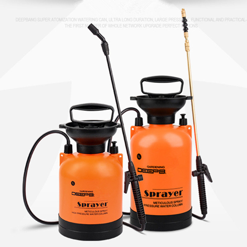 ФОТО Horticultural sprayer pressure pneumatic sprayer (5L copper telescopic boom rotating nozzle)