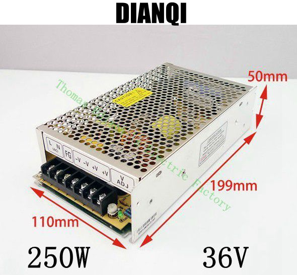 250W 36V 6.9A Single Output Switching power supply for LED Strip light AC to DC 250w 36v mini size unit ms-250-36 single output dc 36v 11a 400w switching power supply for led light strip 110v 240v ac to dc36v smps with cnc electrical equipmen