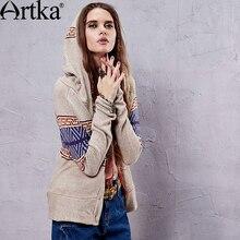 Artka 2015 женская ретро новая коллекция весенней одежды в богемском стили набивная высококачественная элегантная рубашка WB14259C