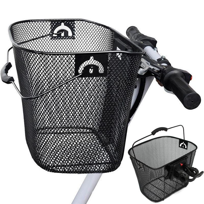 Foldable quick release handle metal mesh mtb mountain bike