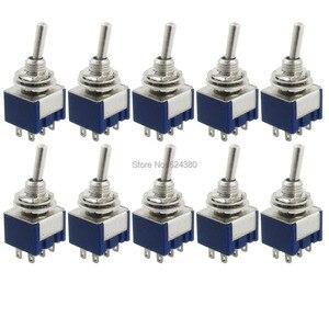 """Image 2 - 1 упаковка (100 шт./лот) X 6 мм 0,23 """"резьбовые вкл/выкл Блокировка блокировки два 2 положения DPDT 2P2T тумблер 6 Pin 6A 1250V AC"""