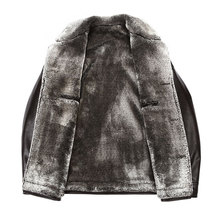 Sheep Skin Thickening The New Fur Coat Integrated Warm Men's Leather Jackets Winter 2016 Middle-aged Men With Thick Coat M-3XL