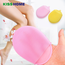 8 Color Shower Brush Dish Washing Sponge Scrubber Kitchen Bathroom Cleaning Antibacterial Silicone Tools Multi-function Brushes palmolive ultra antibacterial orange dish washing liquid 10oz