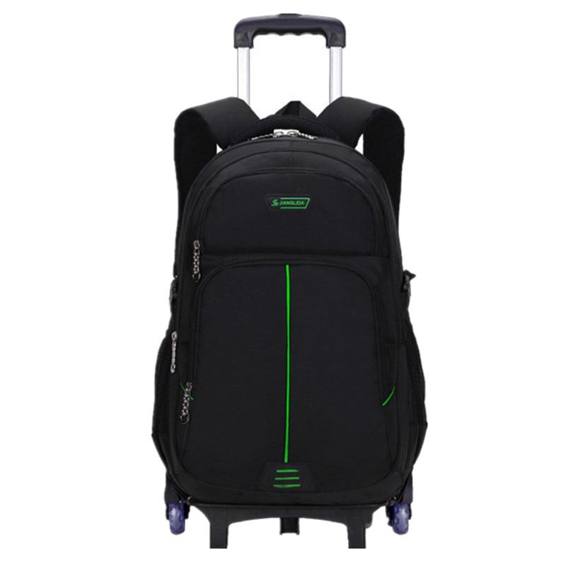 Wózek dla dzieci torby szkolne Mochilas wymienny dziecięce plecaki 6 koła plecak o dużej pojemności bagażu dla chłopców plecak Escola w Torby szkolne od Bagaże i torby na  Grupa 1