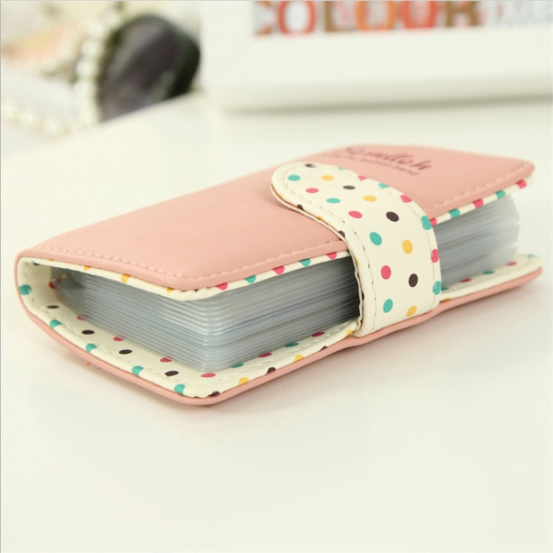 New Women's Mini Card Package PU Tide Small Card Wallet Ladies Cute Wave Fashion Multi-card Position Female Fashion Card Packag