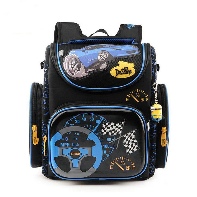 Delune Brand School Bags for Boys Orthopedic Backpack Plane World Map Pattern Schoolbag Children Grade 1-5 Student Backpack цена 2017