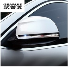 Car styling rearview mirror decoration trims Cover protector gas Stickers for BMW X3 F25 X4 F26 X5 F15 X6 F16 5/7 series f10 f07 car styling refit accelerator oil footrest pedal plate clutch throttle brake treadle for bmw 5 5gt 6 7 series x3 x4 x5 x6 z4 lhd
